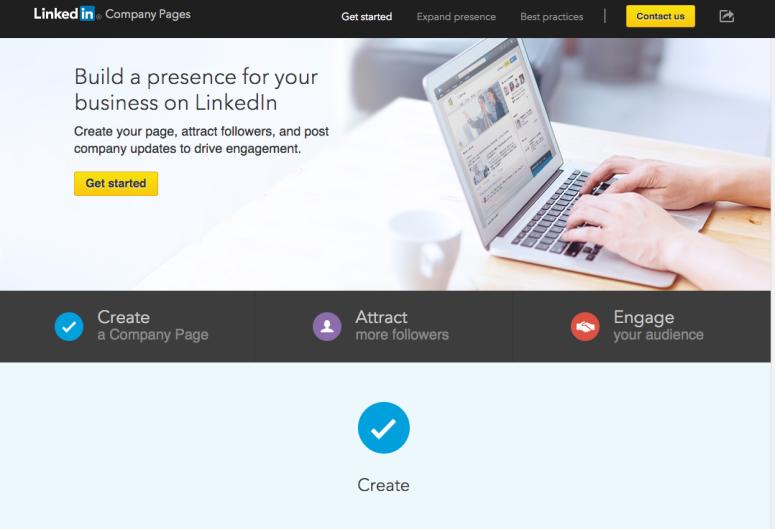 LinkedIn Business Page Screenshot